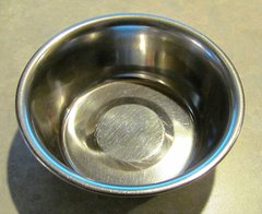 GENTLY USED - Stainless Steel Feed Bowl