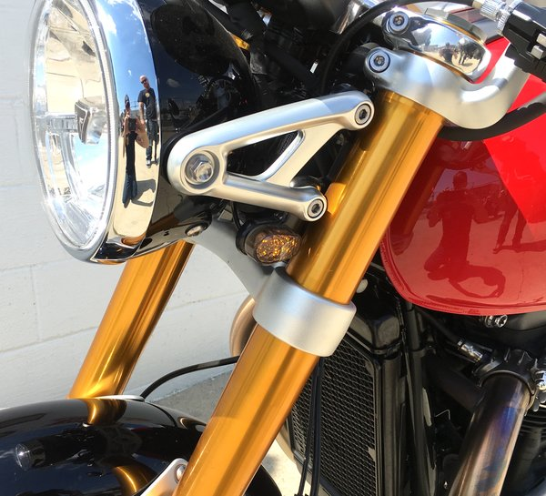 2016+ Triumph Thruxton Front LED Turn Signal Kits