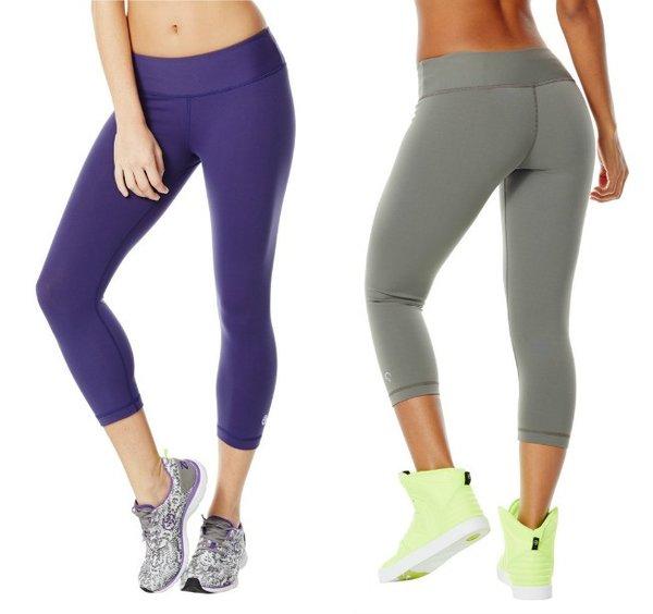 Zumba Purple or Grey Gunmetal Perfect Capri Leggings ...