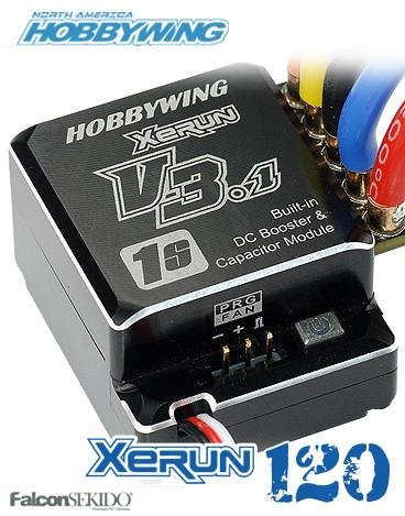 XERUN 120A 1S V3.1 ESC - Black Edition