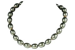 Monet Faux Pearls Evening Necklace