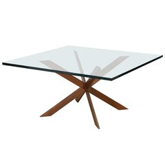 Double Cross Copper Coffee Table