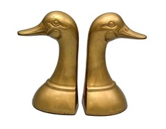 Brass Duck Heads Bookends