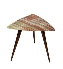 Italian Mid-Century Onyx and Rosewood Side Table