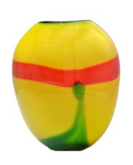 Colorful Murano Glass Vase. Attributed to Seguso.