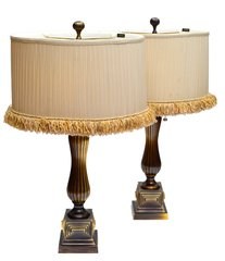 Frederick Cooper Pair of Bronze Table Lamps
