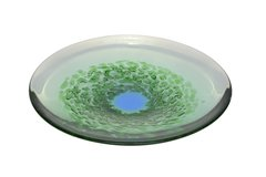 Murano Glass Plate in Green and Blue
