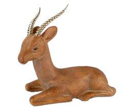 Ceramic Gazelle w/ Brass Horns