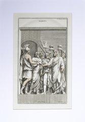 18th C Copperplate Engraving by Bernard de Monfaucon, Ancient Habits