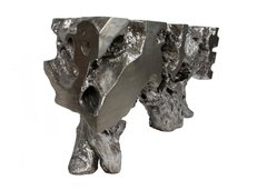 Silver Leaf Acacia Tree Stump Console