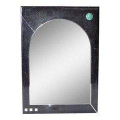 Oggetti Tessellated Stone Mirror with Chrome