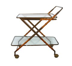 1950s Cesare Lacca Brass Serving Cart