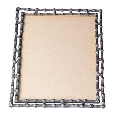 Bamboo-Style Pewter Picture Frame