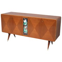 Elegant Italian Sideboard in the Style of Gio Ponti