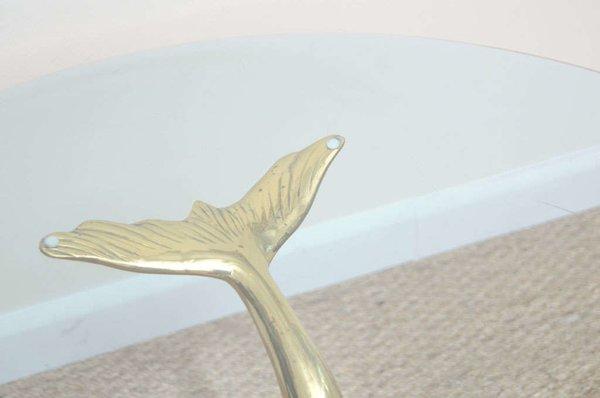 brass dolphin coffee table | galleria d'epoca