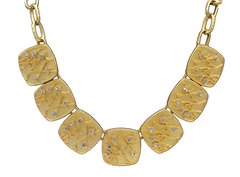 Kenneth Lane Golden Vintage Necklace with Earrings