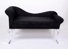 Recamier Sofa / Bench w/ Ultra Suede Fabric