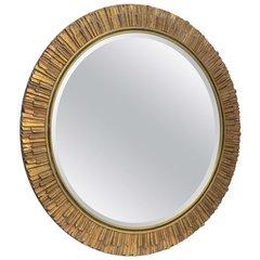 Sunburst Gilded Mirror w/ Bevelled Glass