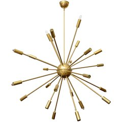 Huge Twenty-Four-Arm Sputnik Chandelier by Stilnovo