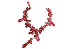 Red Glass Ornaments Necklace