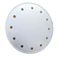 Mid-Century Modern Venetian Round Dotted Glass Mirror Backlit