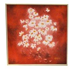 Daisy Painting Acrylic on Canvas by ARICCO