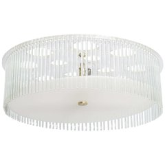 Lucite & Glass Rods Chandelier
