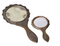 Antique Handheld Bronze Mirrors seashell