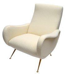 Italian Chairs Zanuso Style, Pair.