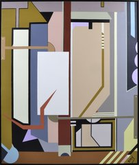 Framed Yamil O Cardenas Huge Abstract Acrylic Painting