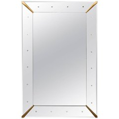 Large Rectangular Venetian Dotted Mirror