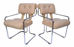 Pace Collection Tucroma Dining Chairs Designed by Guido Faleschini, A Pair