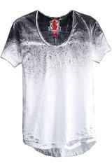 Short Sleeve Spray Paint T-Shirt