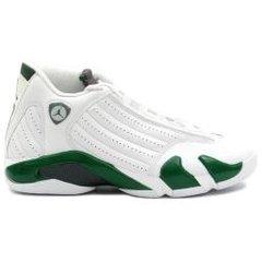 Air Jordan 14 Retro White/Green GS