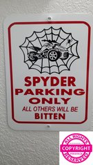 Can Am Spyder - Spider Web Parking Sign
