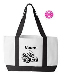 Can Am Spyder RT Personalized Tote Bag