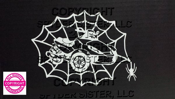 Can Am Spyder RS Spider Web Vehicle Decal Sticker
