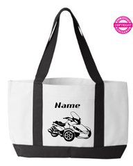 Can Am Spyder ST Personalized Tote Bag