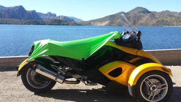 Can Am Spyder Sun Shade - Neon Green