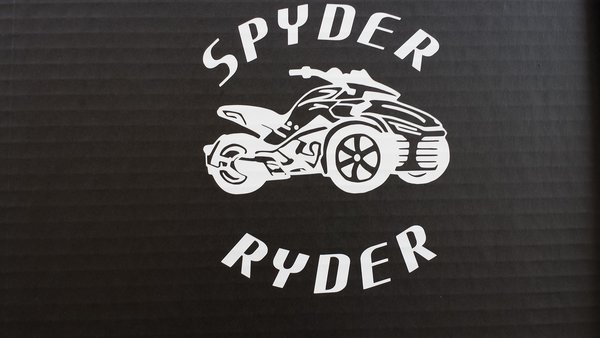 Can Am Spyder F3 Round Lettering Vehicle Decal Sticker