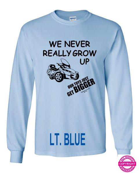 Can Am Spyder - We Never Really Grow Up - Long Sleeve Shirt