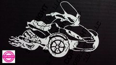 Can Am Spyder ST with Flames Vehicle Decal Stickers