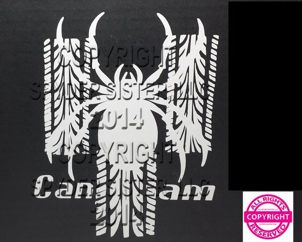 Can Am Spyder Tracks Vehicle Decal Sticker The Spyder