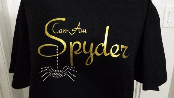 Can Am Spyder Glitter and Rhinestone Spider Sweatshirt-5 glitter colors
