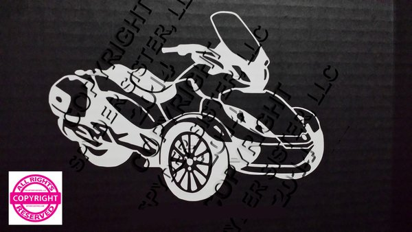 Can Am Spyder ST Limited Vehicle Decal Sticker