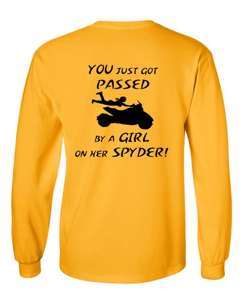 Can Am Spyder - Pass by a Girl - Long Sleeve Shirts