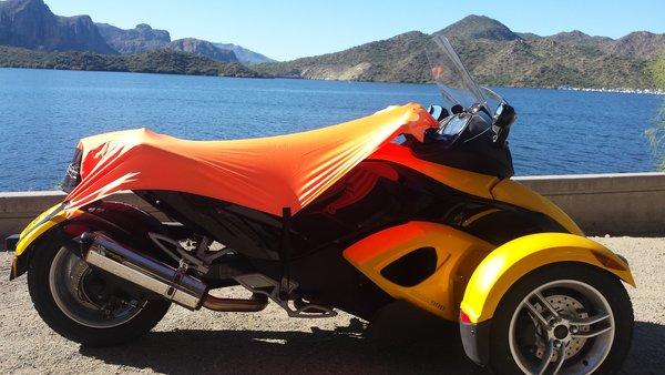 Can Am Spyder Sun Shade - Neon Orange