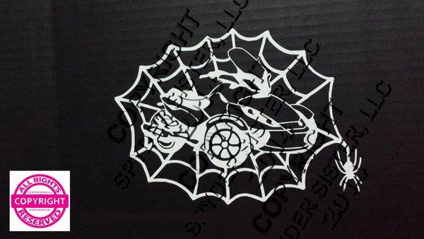 Can Am Spyder ST Spider Web Vehicle Decal Sticker
