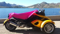 Can Am Spyder Sun Shade - Pretty in Pink