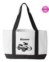Can Am Spyder RS Personalized Tote Bag